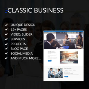 Classic Business - Divi Child Theme