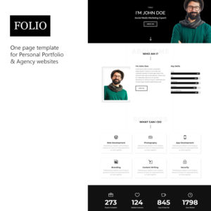 Folio Personal Portfolio, resume theme