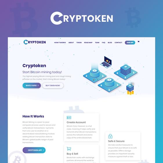 Cryptoken | Bitcoin & ICO Cryptocurrency