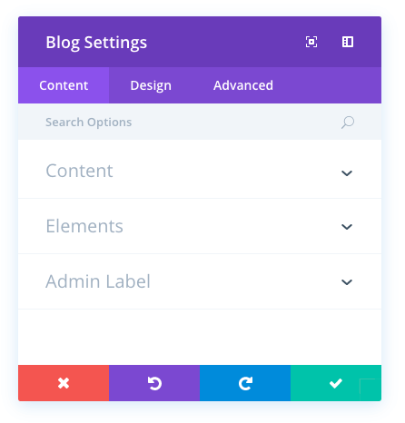 blog module settings